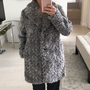 Zara faux fur teddy bear coat